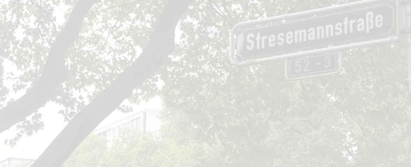 Stresemannstraße Zugang von der Berliner Allee